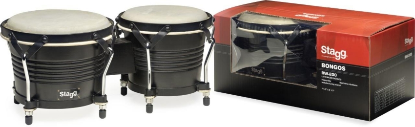 Stagg BW-200 Bongos Black