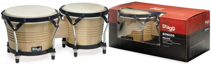 Stagg Bongos Natural