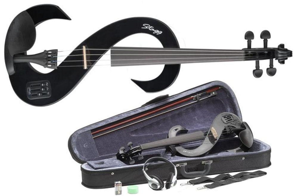 Stagg EVN 4/4 BK Electric Violin in Black