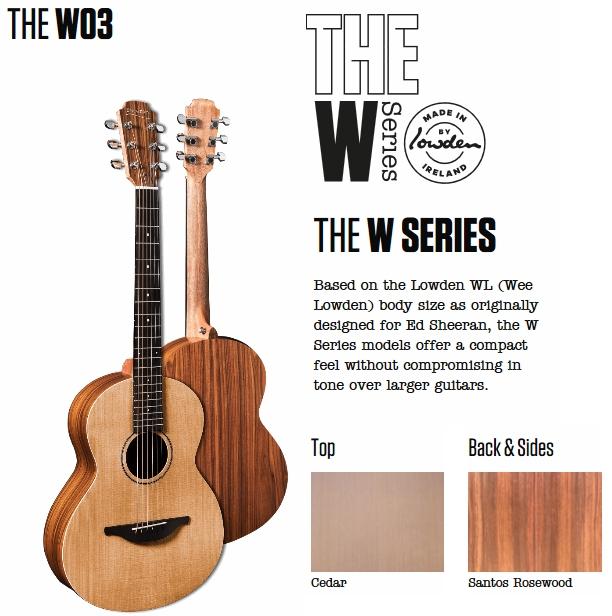 Sheeran by Lowden - W Series - W03